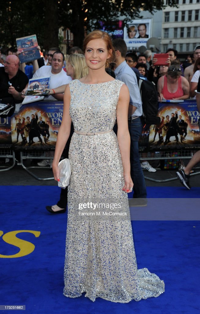 Sophie Evans attends the World Premiere of 'The World's End' at Empire Leicester Square on July 10, 2013 in London, England.