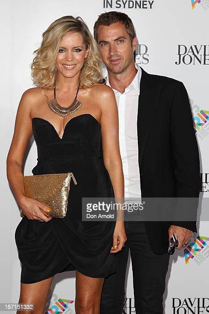 Sophie Falkiner and husband Tony Thomas arrive at the 26th Annual ARIA Awards 2012 at the Sydney Entertainment Centre on November 29 2012 in Sydney...
