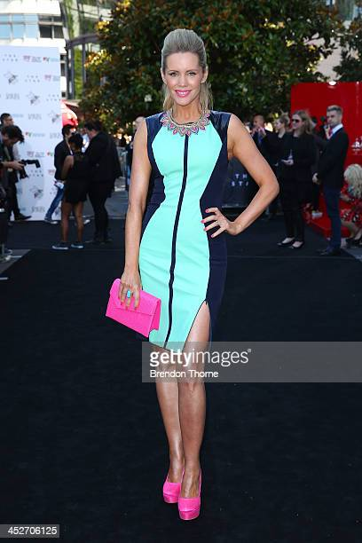 Sophie Falkiner arrives at the 27th Annual ARIA Awards 2013 at the Star on December 1 2013 in Sydney Australia