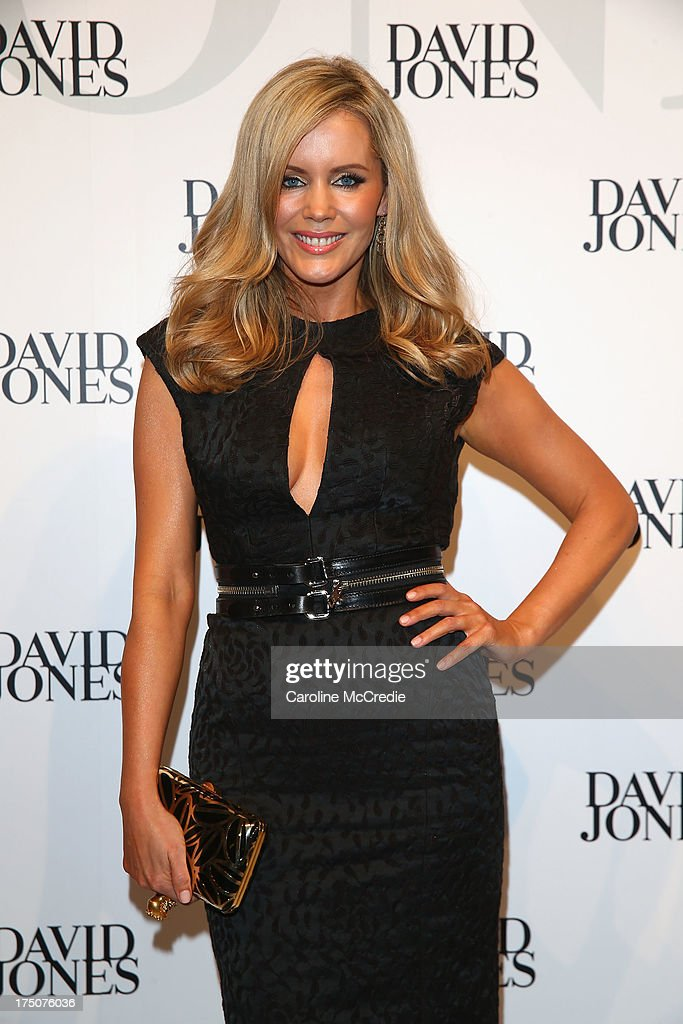 Sophie Falkiner arrives at the David Jones Spring/Summer 2013 Collection Launch at David Jones Elizabeth Street on July 31, 2013 in Sydney, Australia.