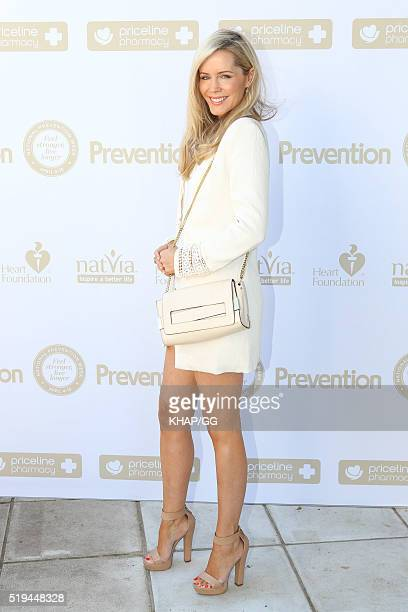 Sophie Falkiner attends National Prevention Week Breakfast held at Catalina Restaurant on April 05 2016 in Sydney Australia