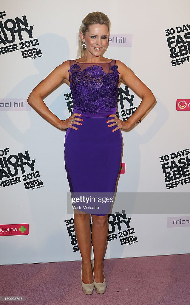 Sophie Falkiner poses during the 30 Days of Fashion & Beauty Launch at Sydney Town Hall on August 30, 2012 in Sydney, Australia.