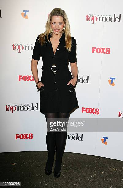 Sophie Falkiner poses on the red carpet during the launch of Australia's Next Top Model Series 6 at the Inglis Newmarket Stables on July 15 2010 in...