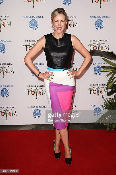 Sophie Faulkiner arrives at Cirque du Soleil TOTEM Sydney Premiere on October 28 2014 in Sydney Australia