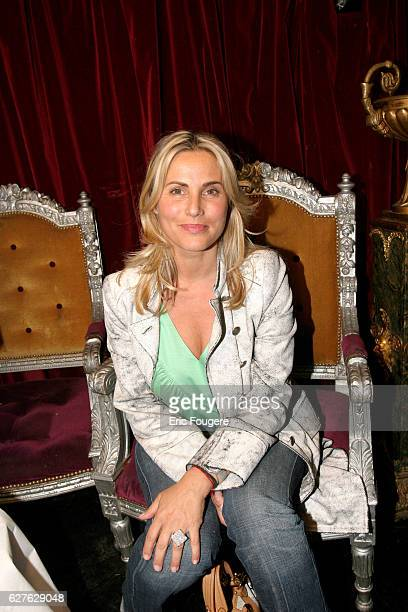 Sophie Favier attends the party of jeweler Van der Bauwede