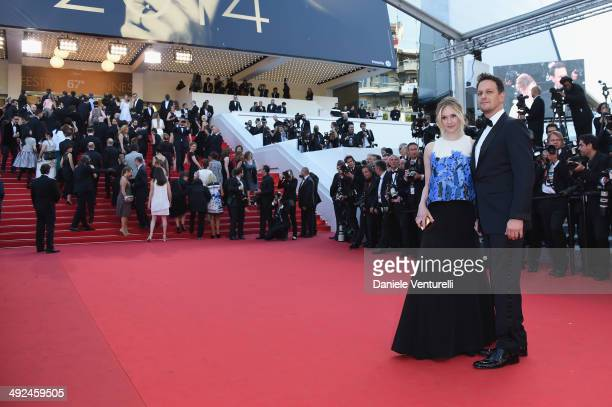Sophie Flack and Josh Charles attend the 'Two Days One Night' premiere during the 67th Annual Cannes Film Festival on May 20 2014 in Cannes France