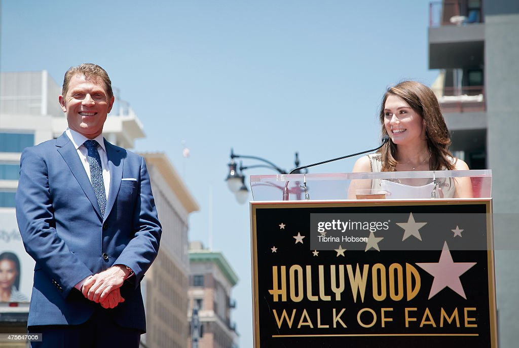 Sophie Flay speaks as her father <a gi-track='captionPersonalityLinkClicked' href=/galleries/search?phrase=Bobby+Flay&family=editorial&specificpeople=220554 ng-click='$event.stopPropagation()'>Bobby Flay</a> is honored on the Hollywood Walk of Fame on June 2, 2015 in Hollywood, California.