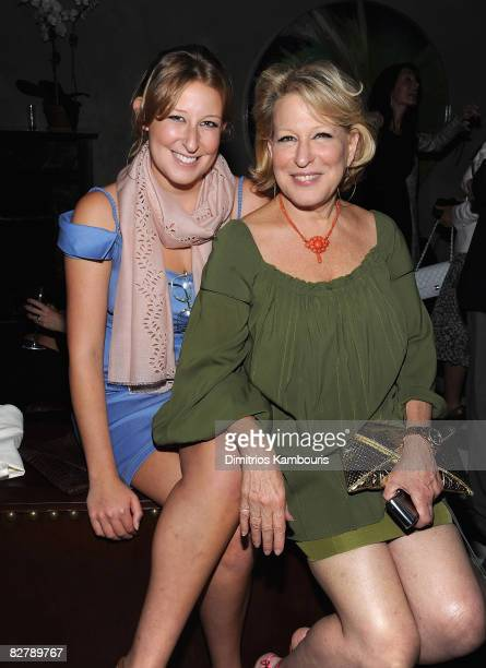 Sophie Frederica Alohilani von Haselberg and Bette Midler attend the after party for the Cinema Society Screening of 'The Women' at Lowe's 19th...
