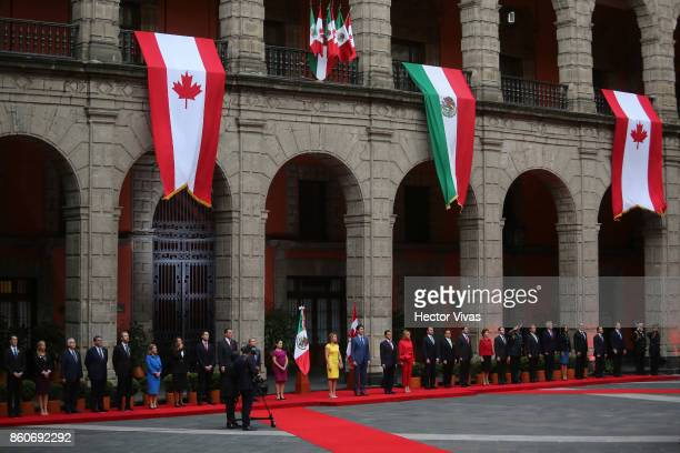 Sophie GrŽegoire Trudeau Canadian Prime Minister Justin Trudeau Enrique Peña Nieto President of Mexico and Mexican First Lady Angelica Rivera pose...