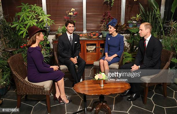 Sophie GregoireTrudeau Canadian Prime Minister Justin Trudeau Catherine Duchess of Cambridge and Prince William Duke of Cambridge attend a meeting of...
