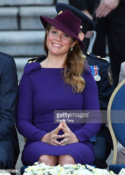 Sophie Gregorire attend the Official Welcome Ceremony for the Royal Tour at the British Columbia Legislature on September 24 2016 in Victoria Canada