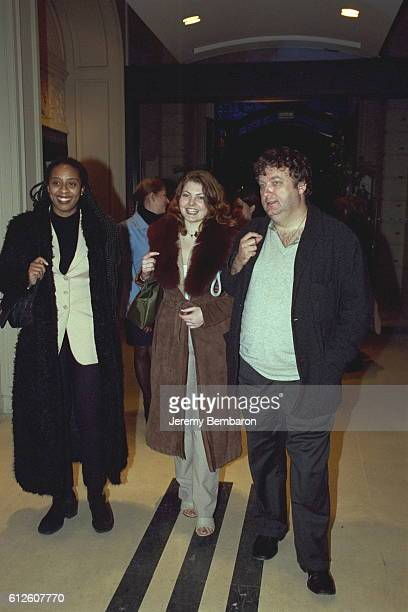 Sophie Guillemin with Dominique Besnehard and friend