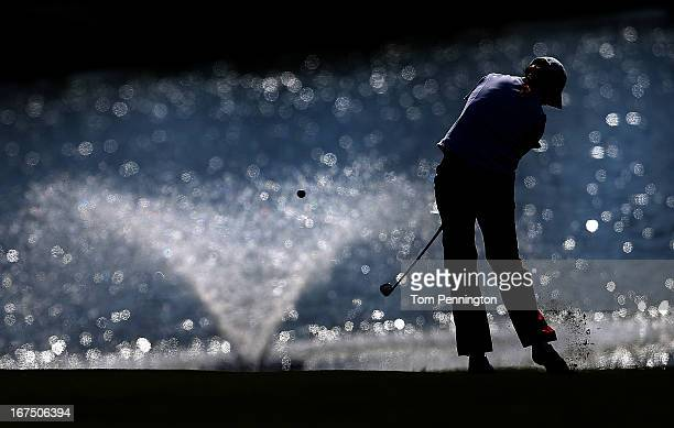 Sophie Gustafson of Sweden hits a shot during the first round of the 2013 North Texas LGPA Shootout at the Las Colinas Country Club on April 25 2013...