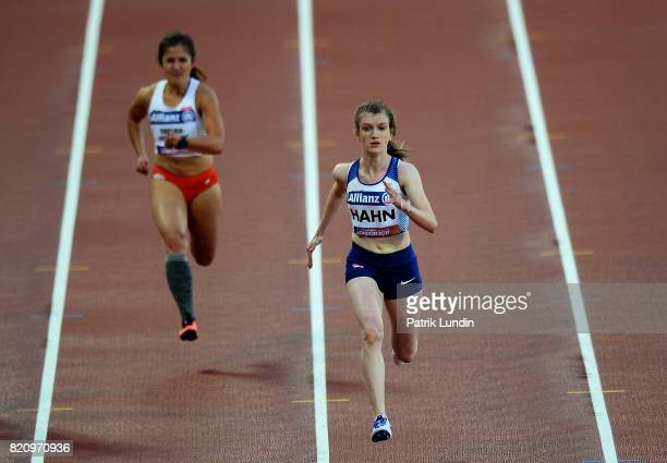Sophie Hahn of Great Britain in action during the womens 100m T38 final on day nine of the IPC World ParaAthletics Championships 2017 at London...