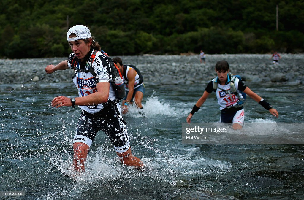 Sophie Hart of New Zealand competes in the one day individual event during the 2013 Speights Coast to Coast on February 9, 2013 in Christchurch, New Zealand.