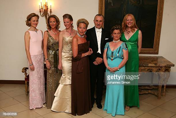 Sophie Hereditary Princess of Liechtenstein Duchess MarieCarolin von Wuerttemberg Duchess Maria Anna in Bayern her bridegroom Klaus Runow Duke Max in...