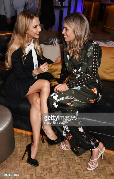 Sophie Hermann and Olivia Cox attend the launch of the JF London x Kyle De'Volle fall/winter 2017 capsule collection sponsored by Ciroc Vodka at W...