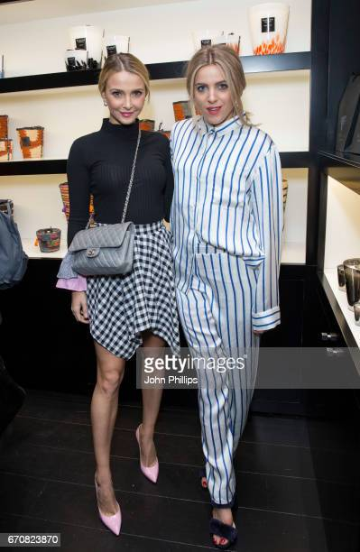 Sophie Hermann and Olivia Cox attend the UK flagship store opening of luxury Parisian candle and home fragrance brand Baobad on Walton Street on...