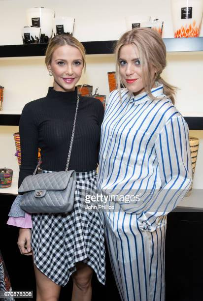 Sophie Hermann and Olivia Cox attend the UK flagship store opening of luxury Parisian candle and home fragrance brand Baobab on Walton Street on...