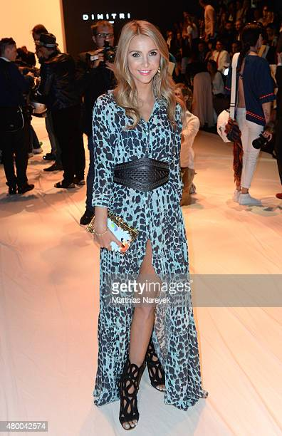 Sophie Hermann attends the Dimitri show during the MercedesBenz Fashion Week Berlin Spring/Summer 2016 at Brandenburg Gate on July 9 2015 in Berlin...