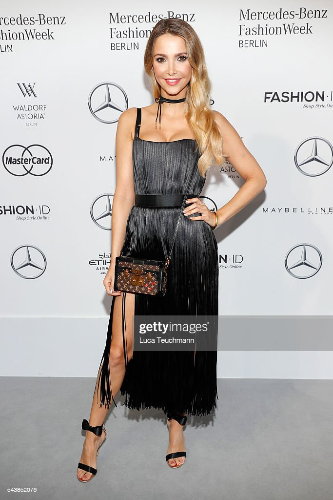 Sophie Hermann attends the Dimitri show during the Mercedes-Benz Fashion Week Berlin Spring/Summer 2017 at Erika Hess Eisstadion on June 30, 2016 in Berlin, Germany.