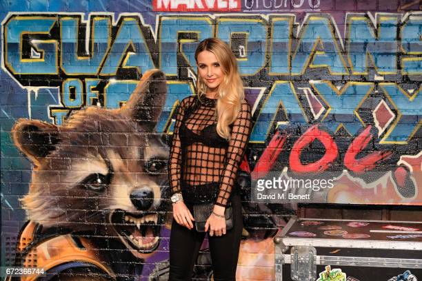 Sophie Hermann attends the European Gala screening of 'Guardians of the Galaxy Vol 2' at the Eventim Apollo on April 24 2017 in London United Kingdom