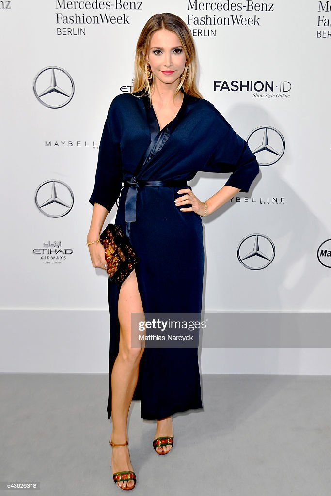 Sophie Hermann attends the Guido Maria Kretschmer show during the Mercedes-Benz Fashion Week Berlin Spring/Summer 2017 at Erika Hess Eisstadion on June 29, 2016 in Berlin, Germany.