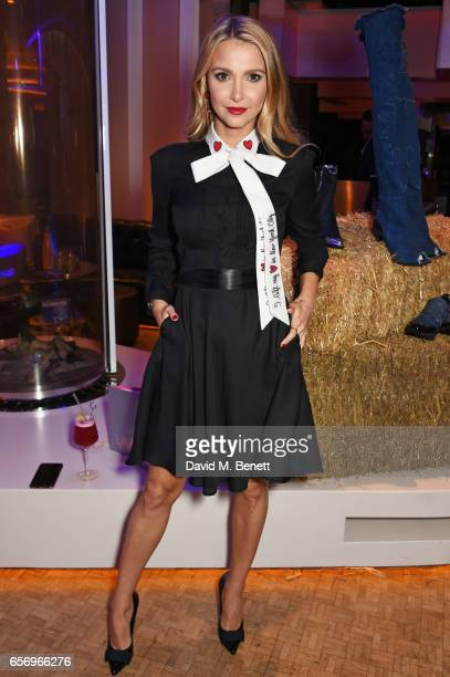 Sophie Hermann attends the launch of the JF London x Kyle De'Volle fall/winter 2017 capsule collection sponsored by Ciroc Vodka at W London Leicester...