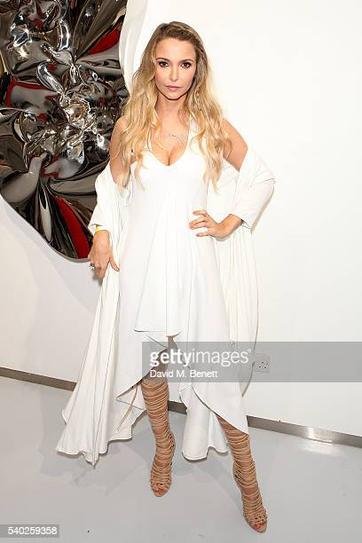 Sophie Hermann attends the launch of UNBLOCK Magazine at Contini Art Gallery on June 14 2016 in London England