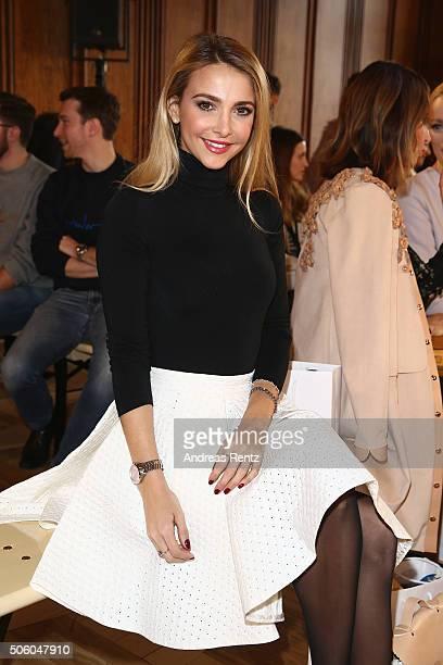 Sophie Hermann attends the Marina Hoermanseder show as part of Der Berliner Mode Salon during the MercedesBenz Fashion Week Berlin Autumn/Winter 2016...