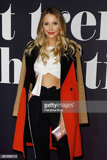 Sophie Hermann attends the Maybelline Hot Trendsxhibition 2017 show during the MercedesBenz Fashion Week Berlin A/W 2017 at Motorenwerk on January 16...