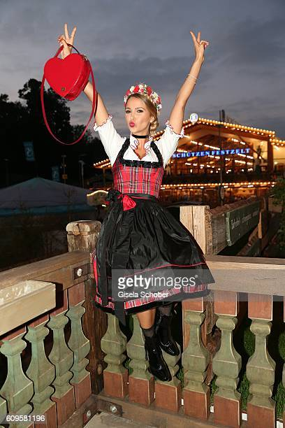 Sophie Hermann model and stepdaughter of Uschi Glas attends the 'Beauty Beee girls only Wiesn' during the Oktoberfest at Theresienwiese on September...