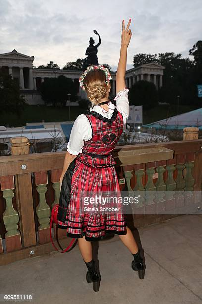 Sophie Hermann model and stepdaughter of Uschi Glas during the 'Beauty Beee girls only Wiesn' at Oktoberfest at Theresienwiese on September 21 2016...