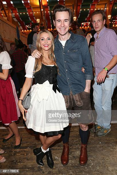 Sophie Hermann stepdaughter of Uschi Glas and her boyfriend Jonny Hynes during the Oktoberfest 2015 at Theresienwiese on Oktober 03 2015 in Munich...