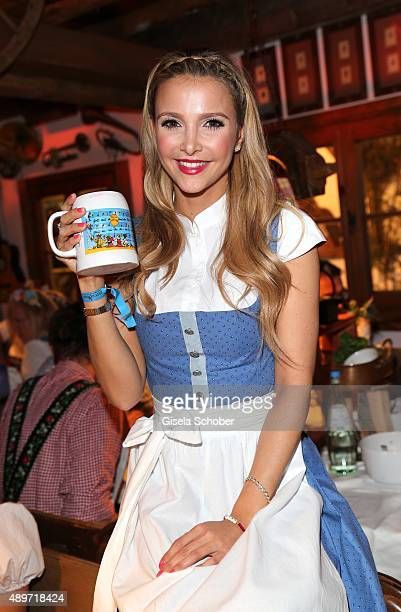 Sophie Hermann stepdaughter of Uschi Glas during the 'Beauty Beee' Wiesn during the Oktoberfest 2015 at Kaeferschaenke beer tent at Theresienwiese on...