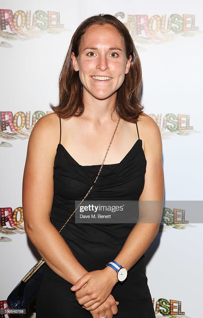 Sophie Hosking attend the 'Carousel - Press Night - Curtain Call' at Barbican Theatre on August 20, 2012 in London, England.