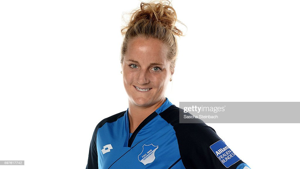 Sophie Howard of TSG 1899 Hoffenheim poses during the Allianz Women's Bundesliga Club Tour on August 15 2016 in Hoffenheim Germany