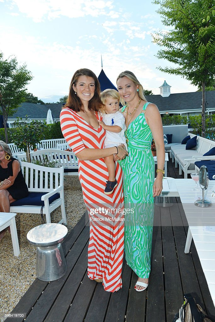 Sophie Howell Peter Howell and Leah Rumbough attend NYC Mission Society Cocktails and Conversations in Southampton at OREYA Hamptons on August 25...