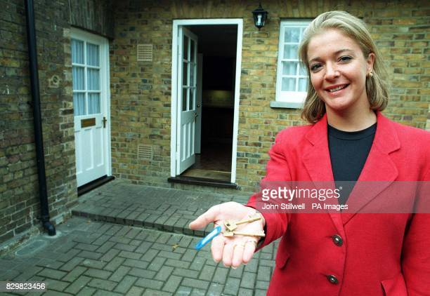Sophie Howgego of Cluttons Estate Agents holds the keys to Laurel Cottage the first property from the Occupied Royal Palaces Estate to be rented out...