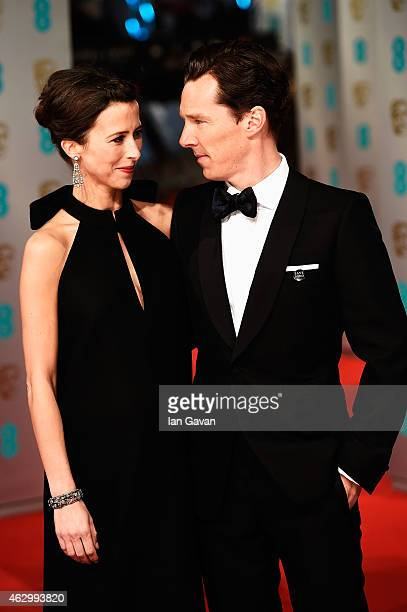 Sophie Hunter and Benedict Cumberbatch attend the EE British Academy Film Awards at The Royal Opera House on February 8 2015 in London England