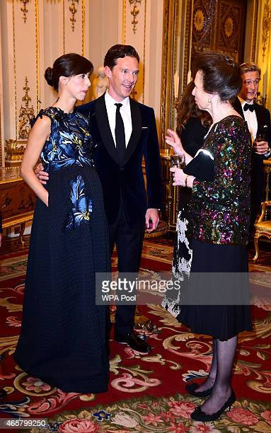Sophie Hunter Benedict Cumberbatch and Princess Anne Princess Royal attending a reception and dinner in support of Motor Neurone Disease Association...
