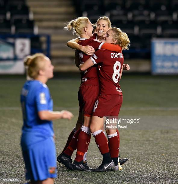 Sophie Inge of Liverpool Ladies celebrates after scoring the fourth during the Women's Super League match between Liverpool Ladies and Sheffield FC...