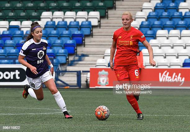 Sophie Ingle of Liverpool Ladies and Carla Humphrey of Doncaster Rovers Belles in action during the Liverpool Ladies v Doncaster Rovers Belles WSL 1...