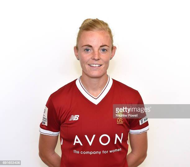 Sophie Ingle of Liverpool Ladies during a Photocall at Select Security Stadium on June 2 2017 in Widnes England