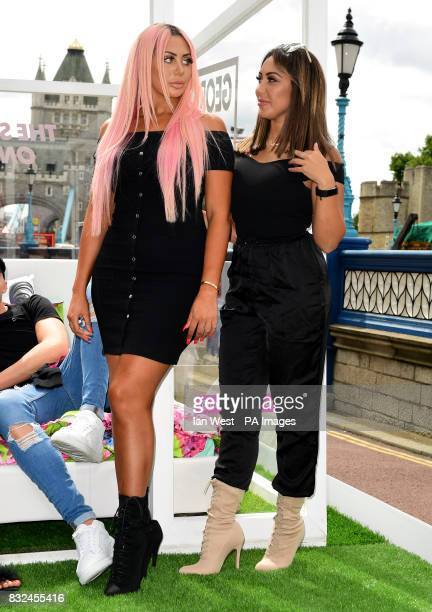 Sophie Kasaei and Chloe Ferry from the cast of Geordie Shore attending the photocall to launch series 15 of the show in London