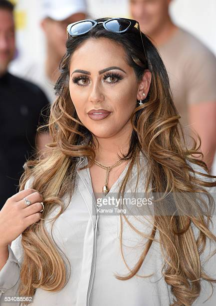 Sophie Kasaei arrives for the 5th birthday Celebrations of 'Geordie Shore' at MTV London on May 24 2016 in London England