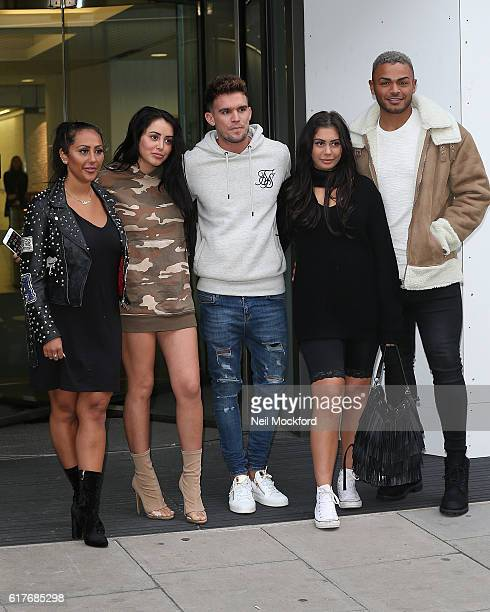 Sophie Kasaei Marnie Simpson Gary Beadle Chloe Ferry and Nathan Henry from Geordie Shore launch Series 13 at MTV London on October 24 2016 in London...
