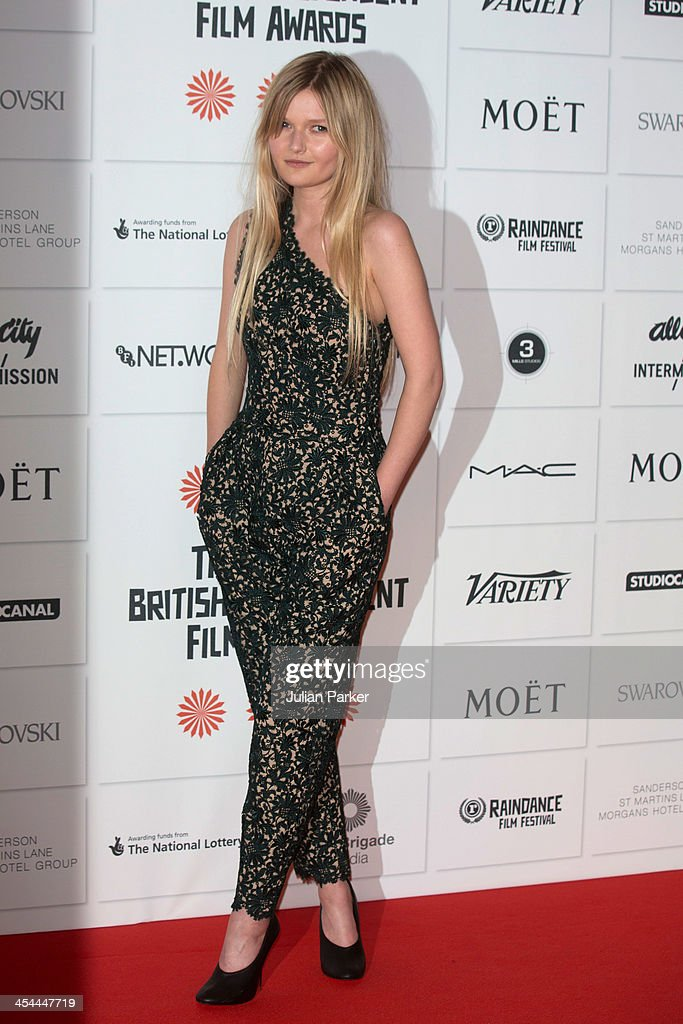 <a gi-track='captionPersonalityLinkClicked' href=/galleries/search?phrase=Sophie+Kennedy+Clark&family=editorial&specificpeople=7256528 ng-click='$event.stopPropagation()'>Sophie Kennedy Clark</a> attends the Moet British Independent Film awards at Old Billingsgate Market on December 8, 2013 in London, England.