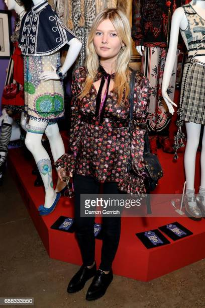 Sophie Kennedy Clark attends the World of Anna Sui Exhibition Private View at the Fashion and Textile Museum on May 25 2017 in London England