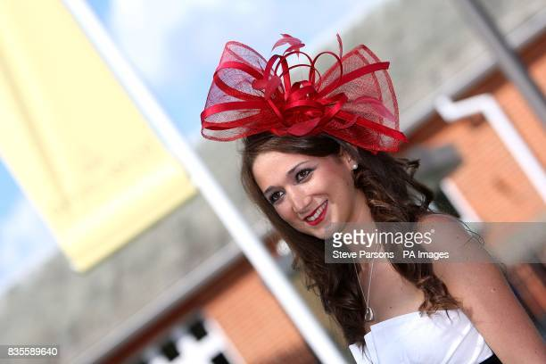 Sophie Lassman shows off her fashion choices during day one at Ascot Racecourse Berkshire